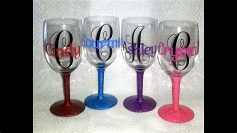 personalized wine glasses youtube