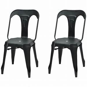Chaise Metal Pas Cher : chaise metal noir mat achat vente pas cher ~ Teatrodelosmanantiales.com Idées de Décoration