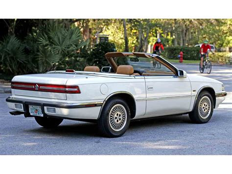 Tc By Maserati by 1990 Chrysler Tc By Maserati For Sale Classiccars