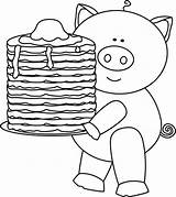Pancakes Pig Pancake Clipart Clip Pajama Coloring Ihop Outline Pajamas Activities Preschool Birthday Give Breakfast Pj Worksheets Games Holding Plate sketch template