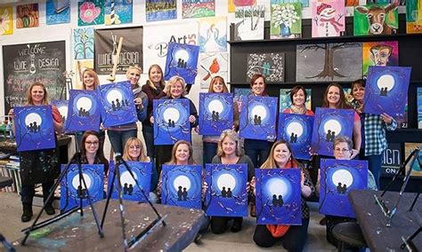 wine and design painting class wine and design groupon