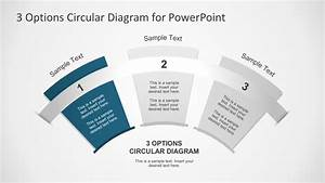 3 Options Circular Fan Diagram For Powerpoint