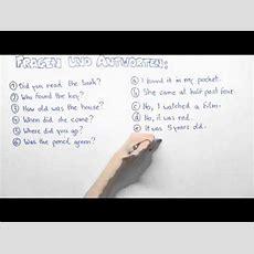 Einfache Vergangenheit Frageform  Übungsvideo Englisch