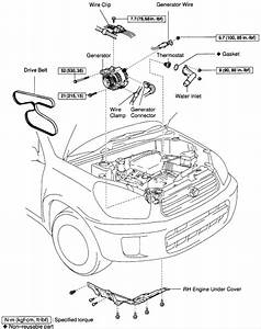 Where Is The Location Of The Thermostat Of A 2003 Toyota