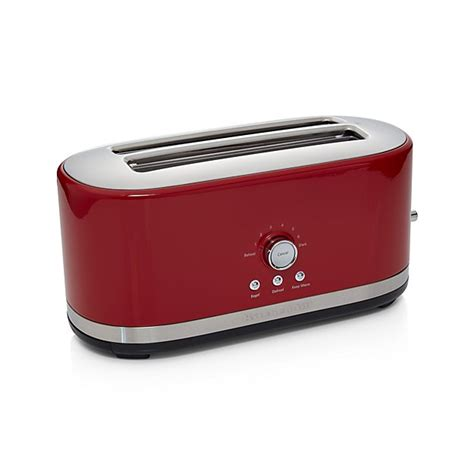 kitchenaid  slice long slot toaster red crate  barrel