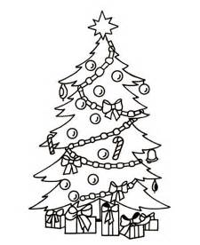 coloring pages of christmas trees coloring home