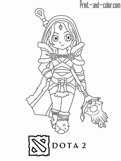 Dota Coloring Pages Crystal