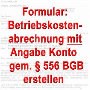 Bfs Abrechnung : mustertexte betriebskosten nebenkostenabrechnung muster ~ Themetempest.com Abrechnung
