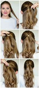Easy Party Hairstyles For Long Hair Step By Step 2018 For