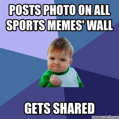 Sports Meme Generator - posts photo on all sports memes wall