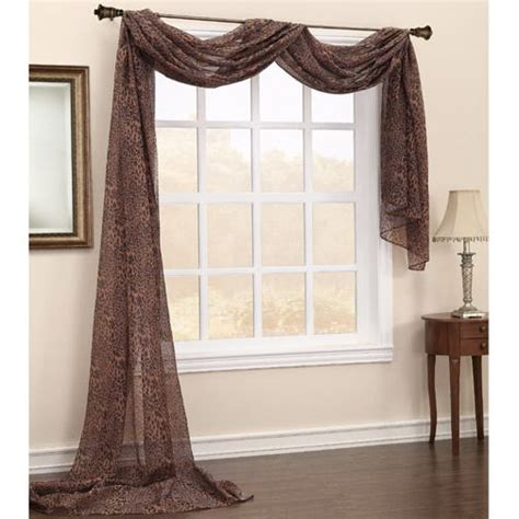 Window Scarf by Sheer Window Scarf About Sheer Panel Window Treatments