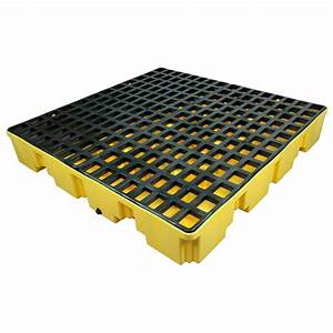 Homak 4-Drum Spill Containment Pallet-YW00304660 - The