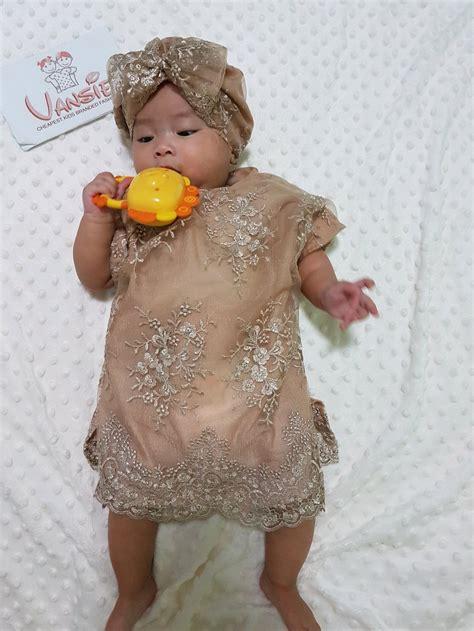 jual baju muslim lebaran bayi anak kaftan set turban