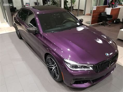 2017 Bmw 750i Gets A Special Color  Daytona Violet