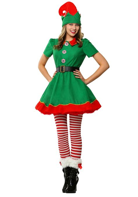 women s holiday elf costume