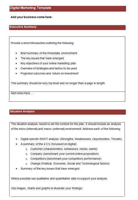digital marketing plan template digital marketing plan template 7 free word pdf documents free premium templates