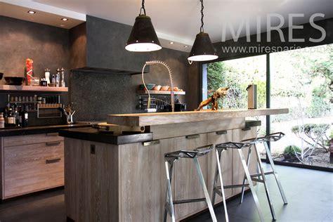 cuisine veranda cuisine moderne ambiance bois c0826 mires
