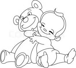 Teddy Bear Hugs Clip Art