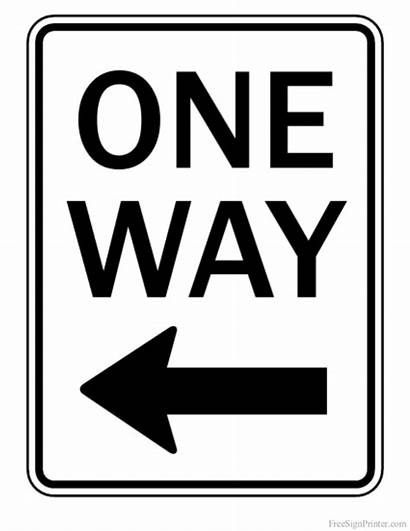 Printable Sign Way Signs Coloring Pages Arrow