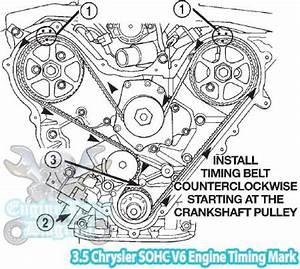 2009 Dodge Challenger SE 3 5 L Engine Timing Marks Diagram