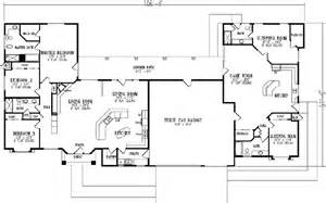 oversized kitchen island mediterranean style house plans 3177 square foot home 1 story 5 bedroom and 4 bath 3