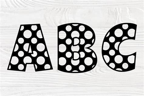 polka dot alphabet svg monogram letters svg font svg  cut files design bundles