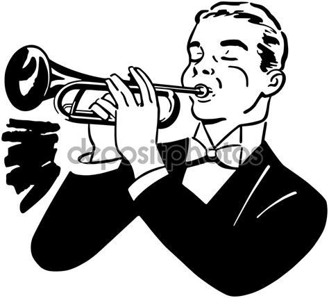 trumpet player clipart clip clipground retro illustration trumpets diploma musical retroclipart dreamstime clipartpost illustrations