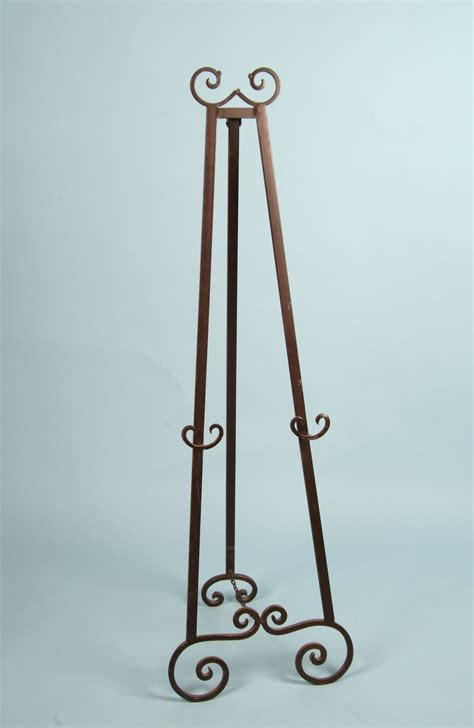 Decorative Floor Easel Stands by Decorative Metal Floor Easel Brown Tone Finish Arizona