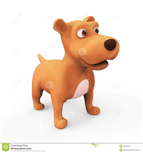 cute cartoon dog stock illustration illustration