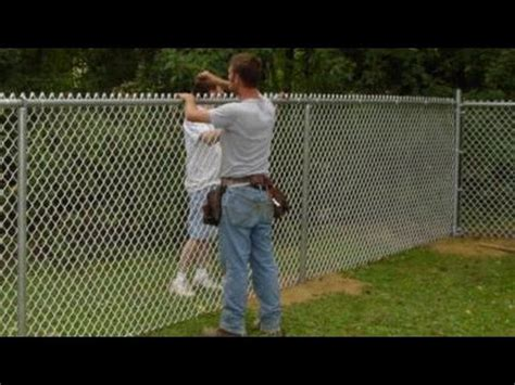 chain link fence post how to install chain link fence
