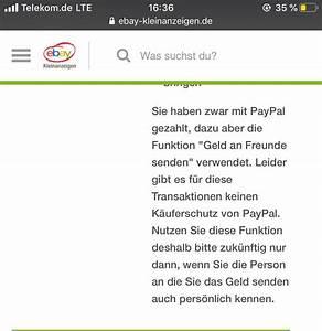 Wie Funktioniert Paypal Bei Ebay : bei ebay kleinanzeigen geld zur ck trotz per freunde ~ A.2002-acura-tl-radio.info Haus und Dekorationen