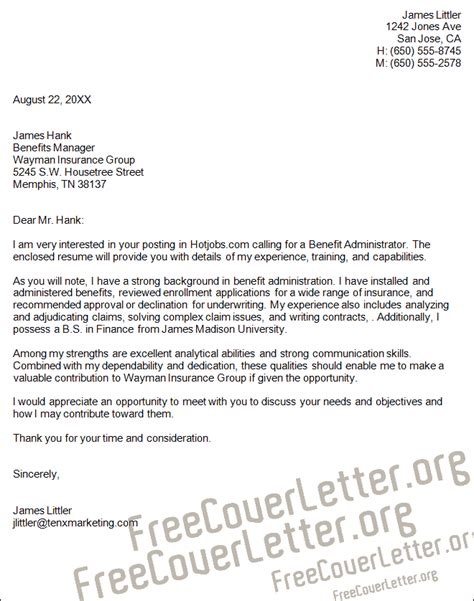 sle letter benefits coverage business business
