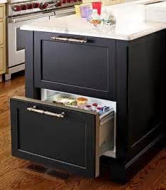 kitchen island with refrigerator refrigerator drawers inn kitchen