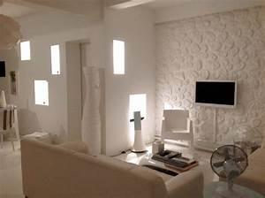 modele decoration salon blanc With modele de deco salon