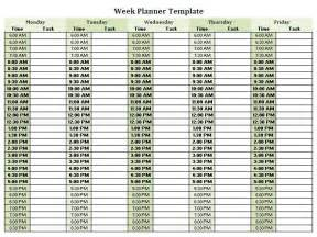 weekly employee schedule template free half hour by half weekly planner template google search