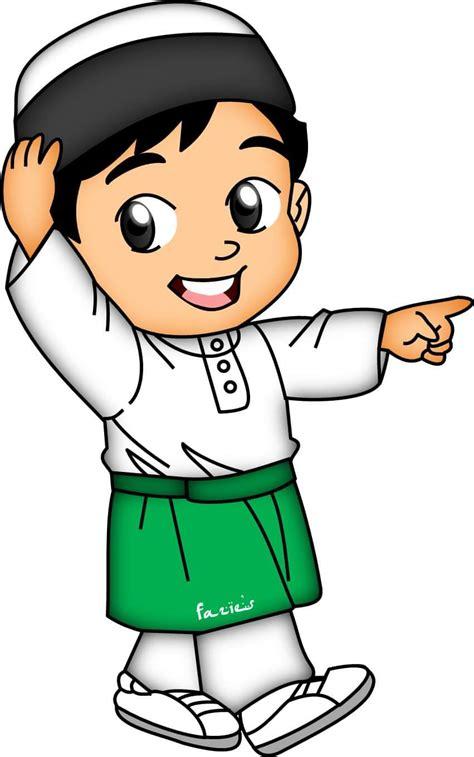 pin oleh alin adamia  doodle boy islamic cartoon