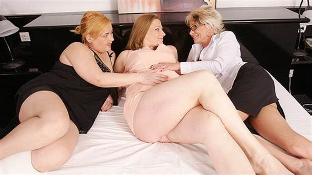 #Two #Mature #Lesbians #Take #On #A #Pregnant #Housewife