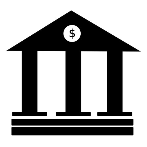 Bank Icon Free Illustration Bank Bank Icon Finance Symbol Free