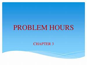 Fluid Mechanics Prolem Hour 3