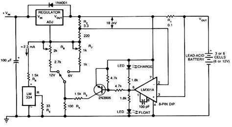lead acid battery charger schematic design