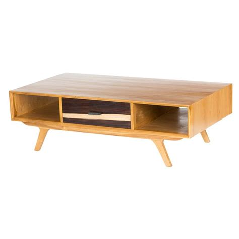 Two tone mid century modern coffee table with drawers: 44 Stylish Mid-Century Modern Coffee Tables | DigsDigs