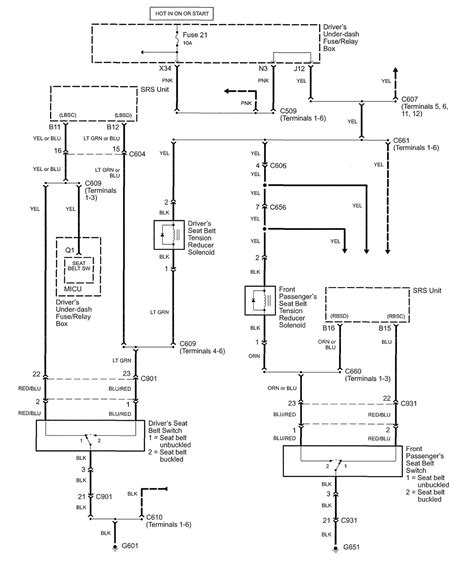 2006 Acura Rl Wiring Diagram by Acura Rl 2005 Wiring Diagrams Seat Belts Carknowledge