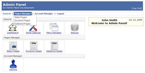php website php adminpanel script screenshots apphp