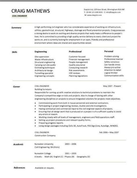 Chronological Resume Engineer by Civil Engineer Resume Template Karlos Resume Skills