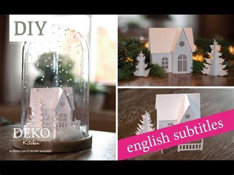 weihnachtsdeko basteln winterlandschaft tutorial