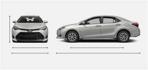 Toyota Corolla Dimensions by 2017 Toyota Corolla Dimensions Best New Cars For 2018