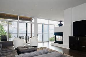 living room contemporary fireplace riverside home in With modern living room furniture ottawa