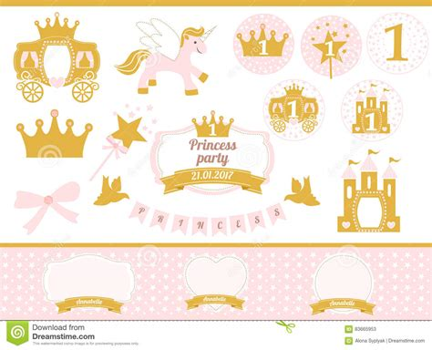 pink  gold princess party decor cute happy birthday