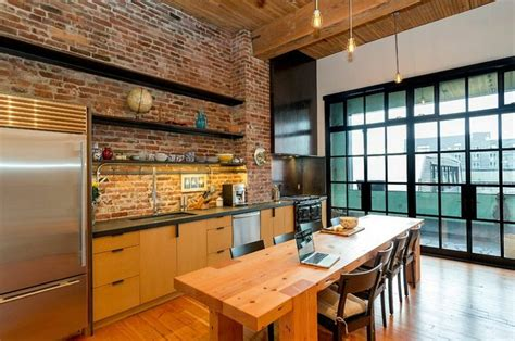 briques cuisine cuisine style atelier la nouvelle tendance cuisine