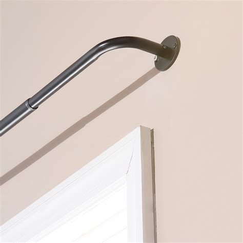 curved curtain rods for corner wrap around curtain rod walmart walmart verona ceiling